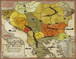 Balkan Peninsula Map Image