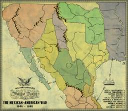 Mexican American War Map Image