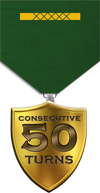 50 Consecutive Turns Medal Image