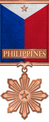 Map - Philippines - Bronze Medal Image