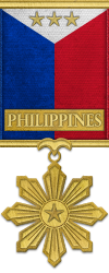 Map - Philippines - Gold Medal Image