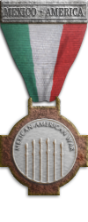 Map - Mexican-American War - Silver Medal Image