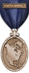 Map - North America - Bronze Medal Image