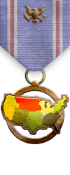 Map - USA - Bronze Medal Image