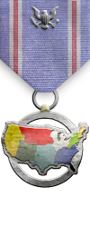 Map - USA - Silver Medal Image